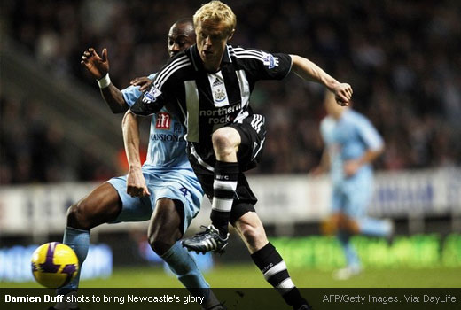 Damien Duff shots to bring the glory for Newcastle United