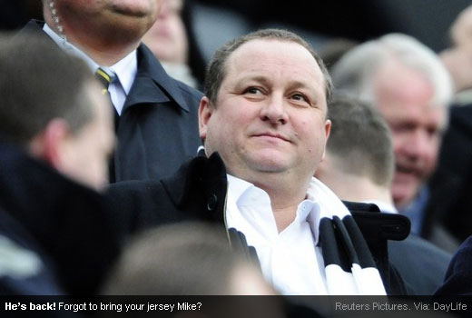Mike Ashley return to St. James' Park