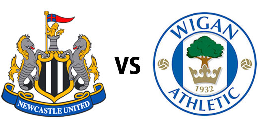 Newcastle United vs Wigan Athletic, Premier League match October 16th, 2010