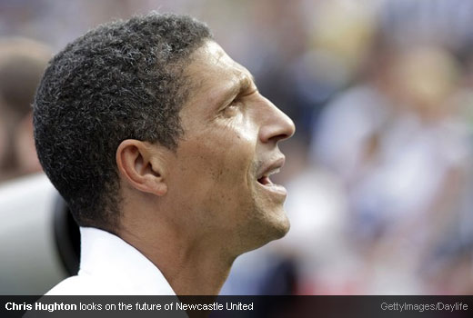 Chris Hughton looks on the future of Newcastle United