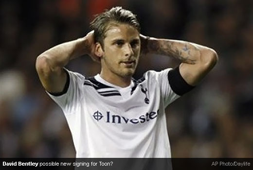 David Bentley is going to changed his shirt color?
