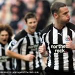 Newcastle United being robbed in the injury time