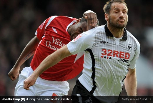 Shefki Kuqi during the championships match