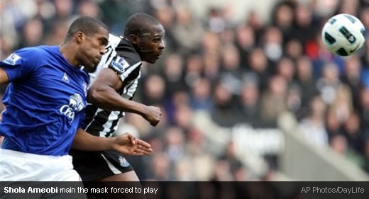 Shola Ameobi, man in the mask