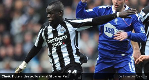 Cheik Tiote happy to stay with Newcastle United