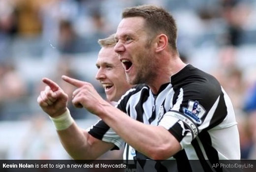 Kevin Nolan is set to sign a new deal at Newcastle