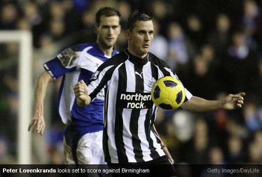 Peter Lovenkrands, this week's forward pairing with Ameobi