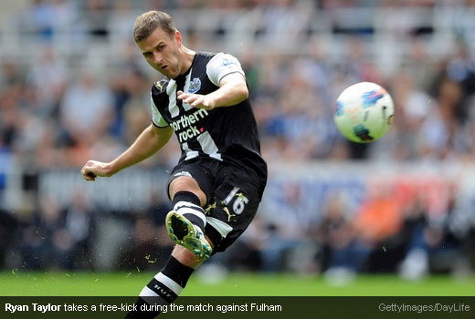 Ryan Taylor takes a free-kick during the match against Fulham [Magpies Zone/GettyImages/DayLife]