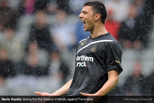 Haris Vuckic during the Pre Season Friendly against Fiorentina [Magpies Zone/GettyImages/DayLife]