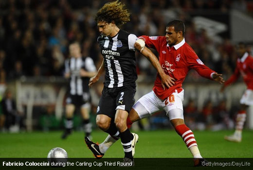 Fabricio Coloccini during the Carling Cup Third Round [MagpiesZone/GettyImages/DayLife]