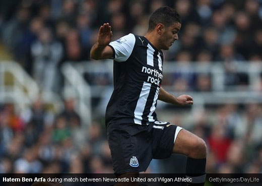 Hatem Ben Arfa during match between Newcastle United and Wigan Athletic [MagpiesZone/GettyImages/DayLife]