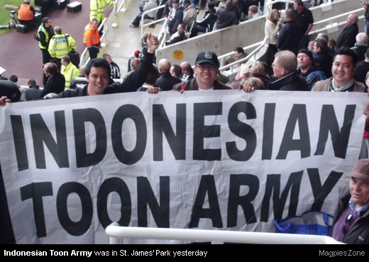 Indonesian Toon Army at St. James' Park [MagpiesZone]