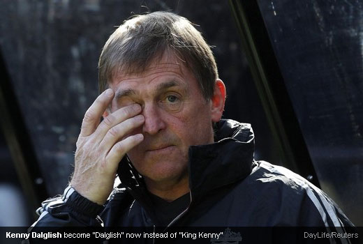 "Kenny Dalglish become ""Dalglish"" now instead of ""King Kenny"""