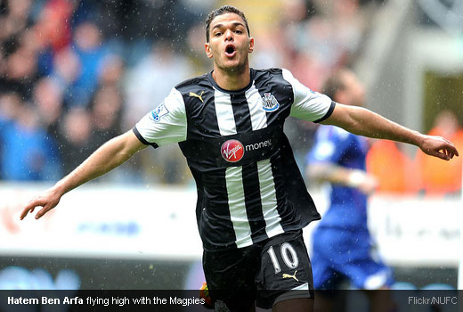 Hatem Ben Arfa flying high with the Magpies