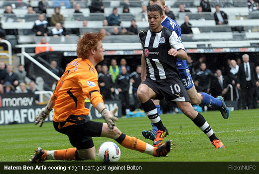 Hatem Ben Arfa scoring magnificent goal against Bolton