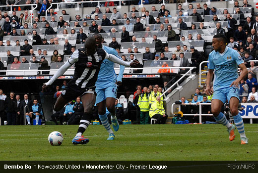 Demba Ba in Newcastle United v Manchester City - Premier League