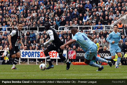 Papiss Demba Cissé in Newcastle United v Manchester City - Premier League