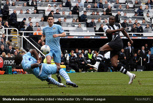 Shola Ameobi in Newcastle United v Manchester City - Premier League