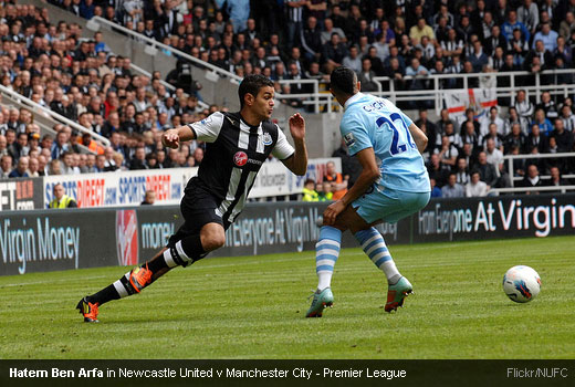 Hatem Ben Arfa in Newcastle United v Manchester City - Premier League