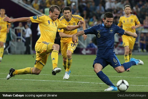 Yohan Cabaye scoring against Ukraine