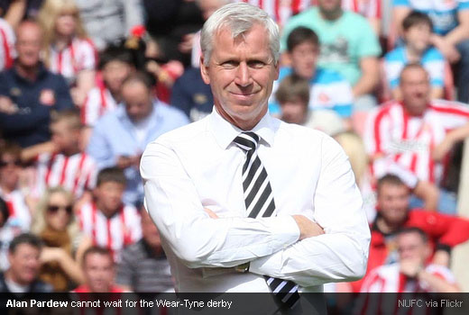 Alan Pardew cannot wait for the Wear-Tyne derby