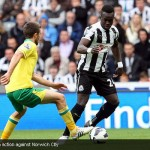 Cheick Tiote in action against Norwich City