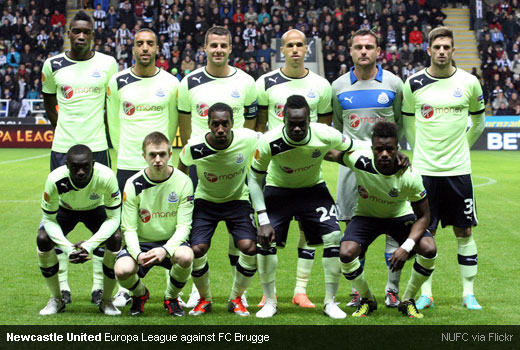 Newcastle United Europa League against FC Brugge