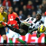 Demba Ba during the Barclays Premier League match at St James Park