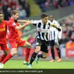 Hatem Ben Arfa perfect cross creates Newcastle's goal