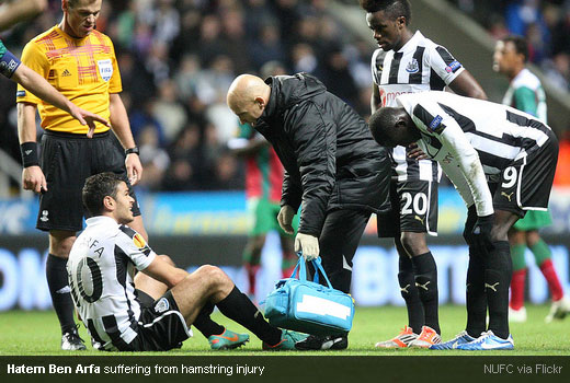 Hatem Ben Arfa suffering from hamstring injury