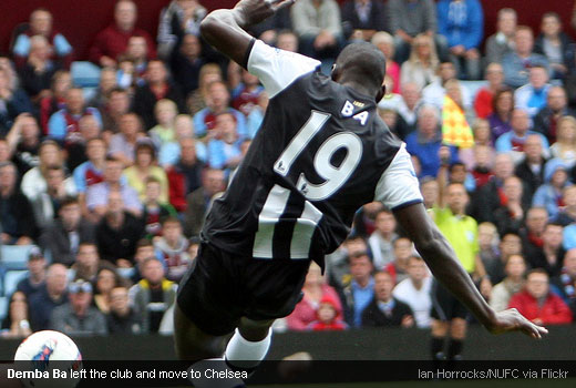 Demba Ba left the club and move to Chelsea