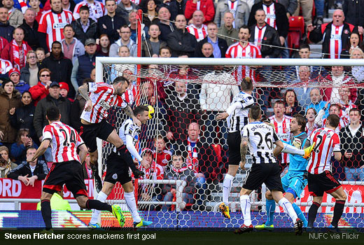 Steven Fletcher scores mackems first goal