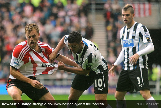 Newcastle United strengths and weaknesses against the mackem