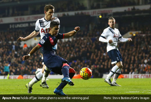Ayoze vs Spurs 13122015